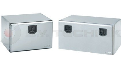 Galvanized toolboxes with lock