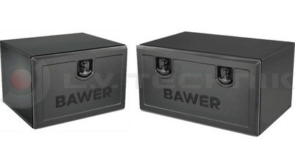 Powder painted toolboxes with lock