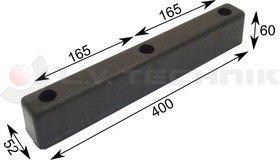 Rubber buffer 400x52x60