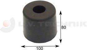 Rubber buffer 100 round fix