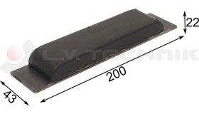 Rubber buffer for tipper 200x43x22