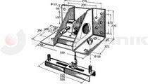 Wheel carrier for 225-335mm wheel width with handle