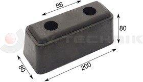 Rubber buffer 200x80x80