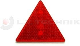 Prism warning triangle red