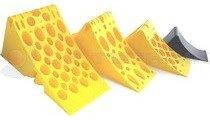 Homologated Yellow Plastic Chock New 335x122x147