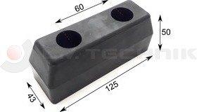 Rubber buffer 125x43x50
