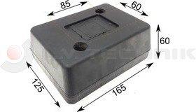 Rubber buffer 165x125x60 2 holes