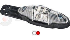 Helyzetjelző FT038 LED piros/fehér vízsz. konz. FRISTOM