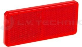 Red adhesive tape rectengular reflector