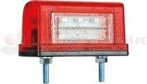 Rendszámtábla világítás piros 2-funk. FT16/A LED FRISTOM