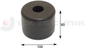 Rolling Bumper 80x100 Rubber with axle bushing