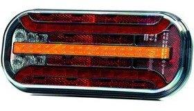 Hátsó lámpa LED FT230 6 funkciós (köd,rendszám) FRISTOM