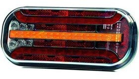 Hátsó lámpa LED FT230 5 funkciós (köd) FRISTOM