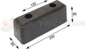 Rubber buffer 242x80x90